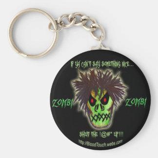 zombie shutup keychain