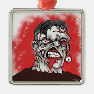 Zombie Sickness Silver-Colored Square Ornament
