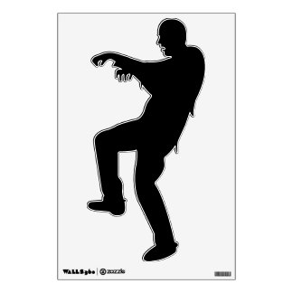 ZOMBIE SILHOUETTE WALL DECAL