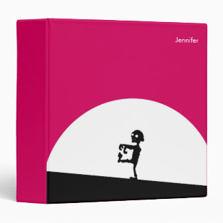 Zombie Silhouette with Full Moon Personalized 3 Ring Binders