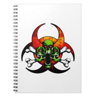 Zombie Skull and Crossbones Notebooks