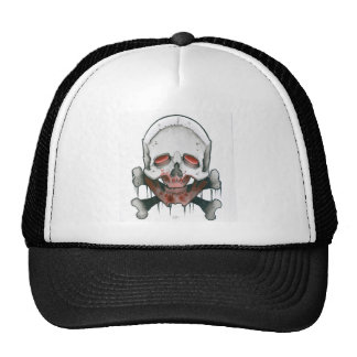 """Zombie Skull & Crossbones Trucker Hat"
