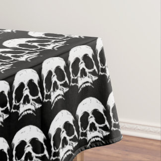 Zombie Skull Face Tablecloth