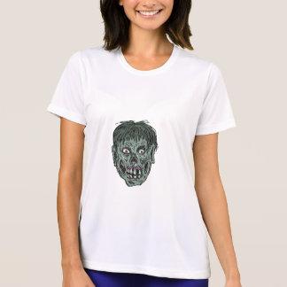 Zombie Skull Head Drawing T-Shirt