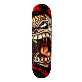Zombie Skull With Blood Skate Deck