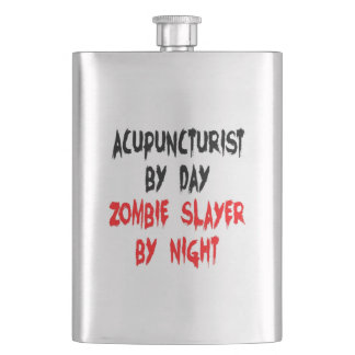 Zombie Slayer Acupuncturist Hip Flask