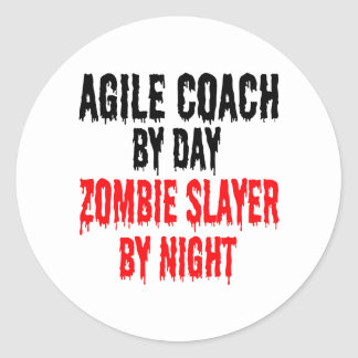 Zombie Slayer Agile Coach Classic Round Sticker