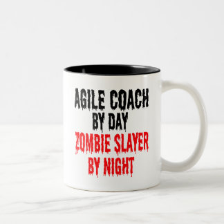 Zombie Slayer Agile Coach Two-Tone Coffee Mug