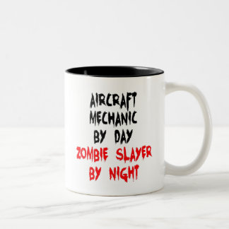 Zombie Slayer Aircraft Mechanic Two-Tone Coffee Mug
