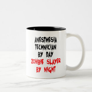 Zombie Slayer Anesthesia Technician Two-Tone Coffee Mug