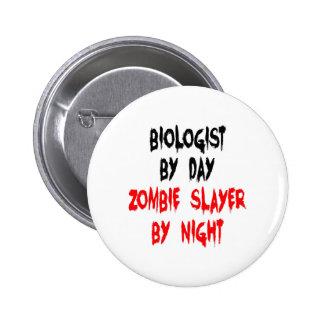 Zombie Slayer Biologist 2 Inch Round Button