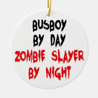 Zombie Slayer Busboy Ceramic Ornament