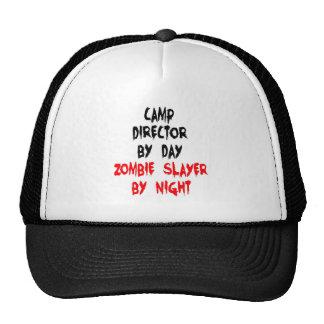 Zombie Slayer Camp Director Trucker Hat