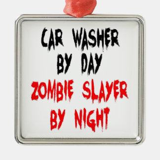 Zombie Slayer Car Washer Metal Ornament