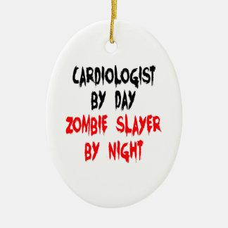 Zombie Slayer Cardiologist Ceramic Oval Ornament