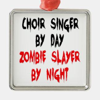 Zombie Slayer Choir Singer Metal Ornament