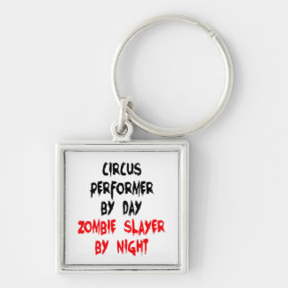 Zombie Slayer Circus Performer Keychain