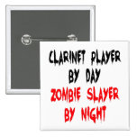 Zombie Slayer Clarinet Player Button