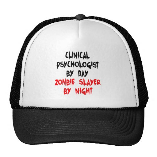 Zombie Slayer Clinical Psychologist Mesh Hat