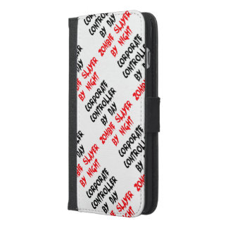 Zombie Slayer Corporate Controller iPhone 6/6s Plus Wallet Case