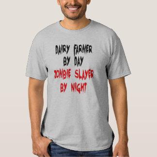 Zombie Slayer Dairy Farmer Tee Shirt