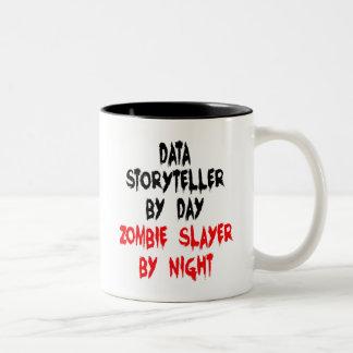 Zombie Slayer Data Storyteller Two-Tone Coffee Mug