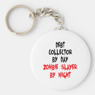 Zombie Slayer Debt Collector Basic Round Button Keychain