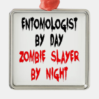 Zombie Slayer Entomologist Metal Ornament