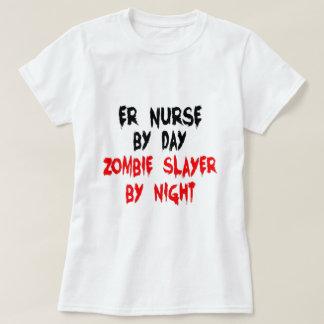 Zombie Slayer ER Nurse T Shirt