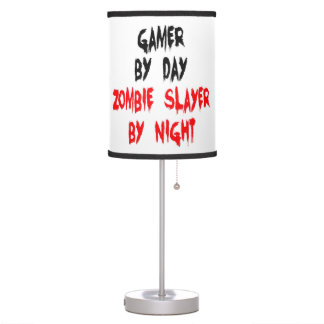 Zombie Slayer Gamer Table Lamp