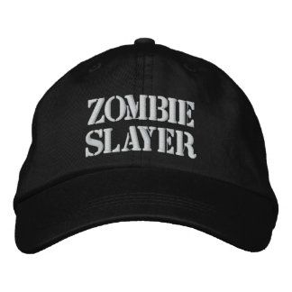 Zombie Slayer Hat Embroidered Baseball Cap