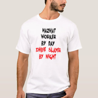 Zombie Slayer Hazmat Worker T-Shirt
