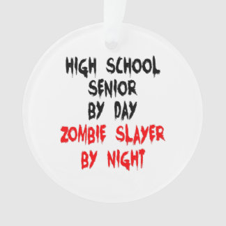 Zombie Slayer High School Senior Ornament