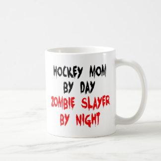 Zombie Slayer Hockey Mom Basic White Mug