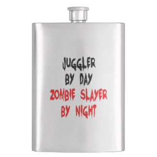 Zombie Slayer Juggler Hip Flask