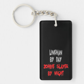 Zombie Slayer Lineman Keychain