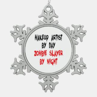 Zombie Slayer Makeup Artist Pewter Snowflake Ornament
