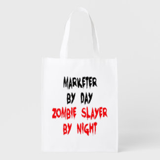 Zombie Slayer Marketer Reusable Grocery Bag
