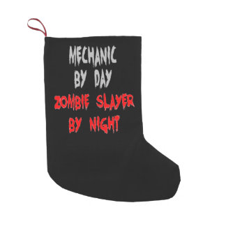 Zombie Slayer Mechanic Small Christmas Stocking