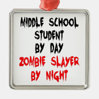 Zombie Slayer Middle School Student Metal Ornament