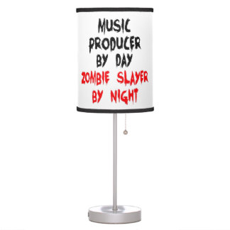 Zombie Slayer Music Producer Table Lamp
