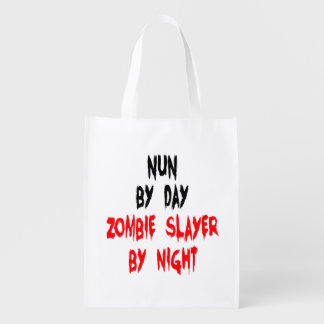 Zombie Slayer Nun Reusable Grocery Bag