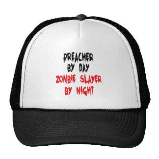 Zombie Slayer Preacher Trucker Hats