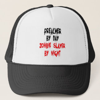 Zombie Slayer Preacher Trucker Hat