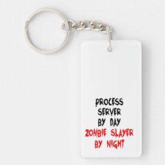 Zombie Slayer Process Server Keychain