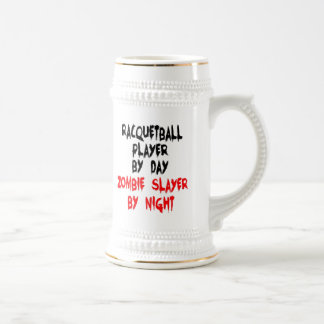 Zombie Slayer Racquetball Player Beer Stein