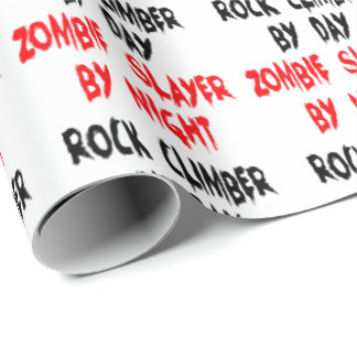 Zombie Slayer Rock Climber Wrapping Paper