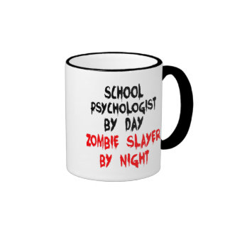 Zombie Slayer School Psychologist Ringer Coffee Mug