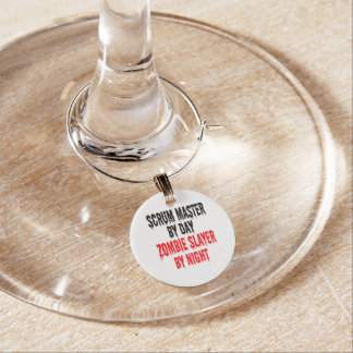 Zombie Slayer Scrum Master Wine Charm
