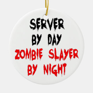 Zombie Slayer Server Ceramic Ornament